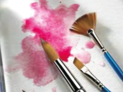Artstat paintbrushes and paint