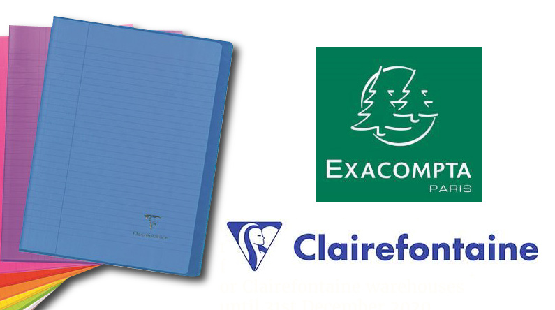 Free Delivery on orders over £150 from Exacompta and Clairefontaine before 31st Dec T&Cs apply